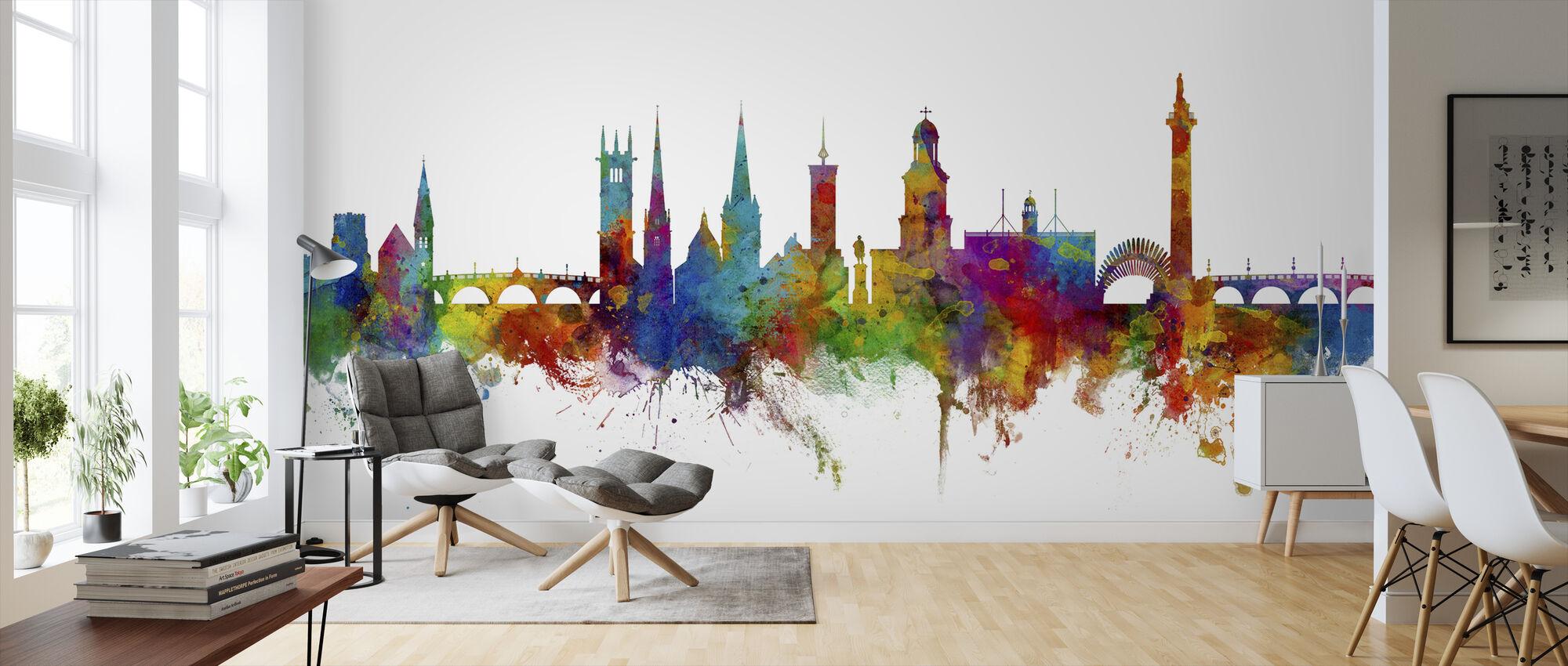 Shrewsbury Skyline - Wallpaper - Living Room