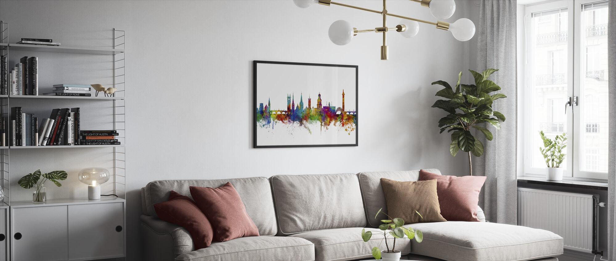 Skyline van Shrewsbury - Ingelijste print - Woonkamer