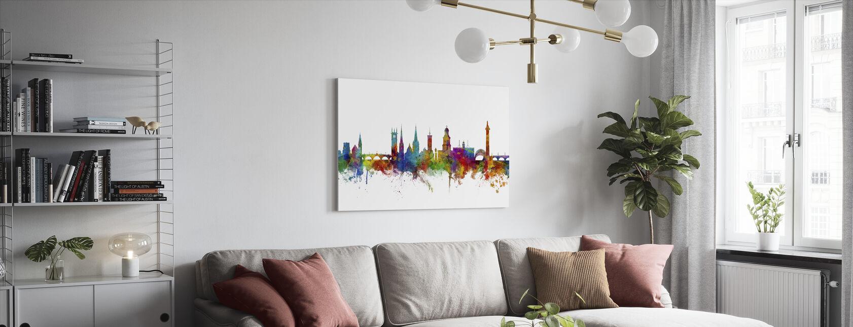 Shrewsbury Skyline - Canvas print - Living Room