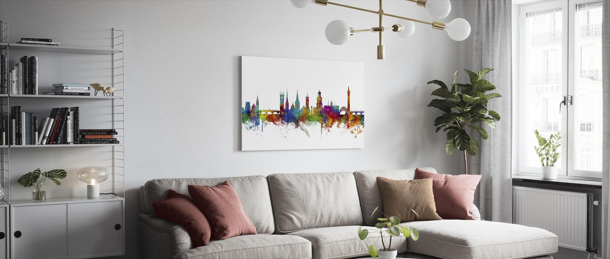 Shrewsbury Skyline - Lerretsbilde - Stue