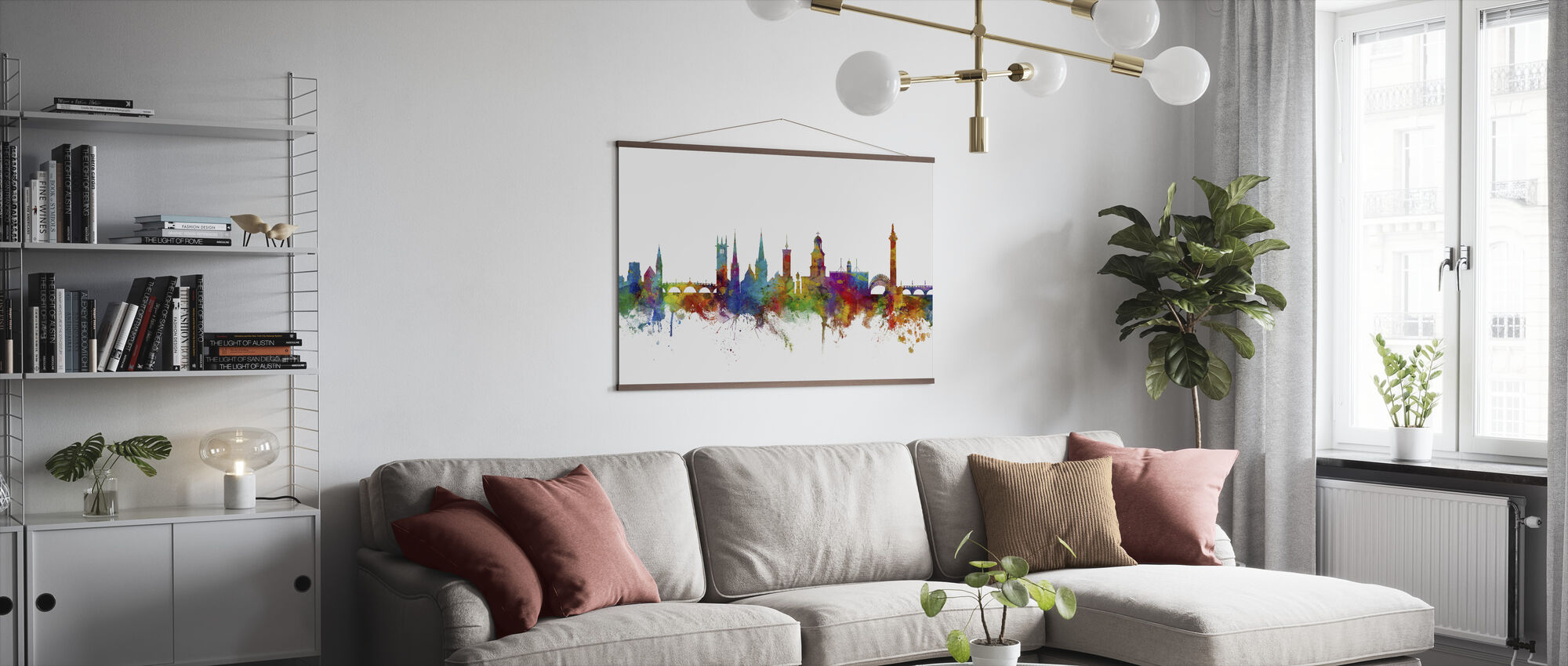 Shrewsbury Skyline - Poster - Living Room