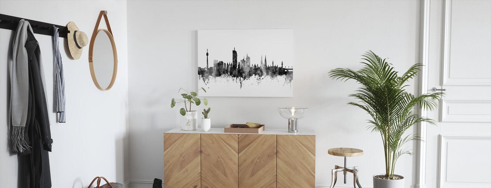 Vienna Skyline Schwarz - Leinwandbild - Flur