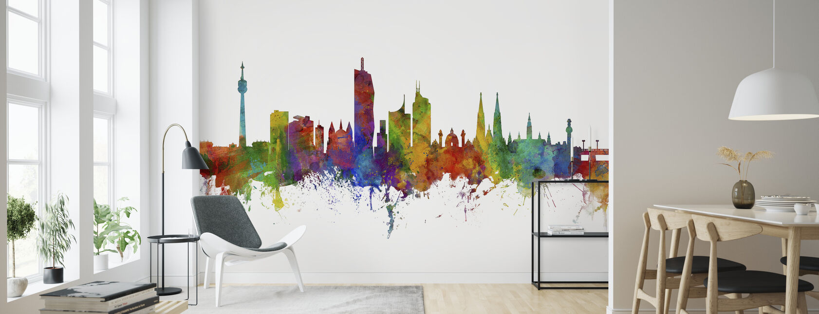 Vienna Skyline - Wallpaper - Living Room
