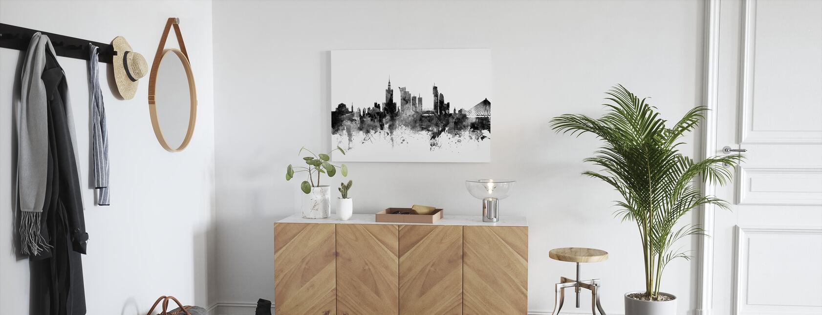 Warsaw Skyline Black - Canvas print - Hallway