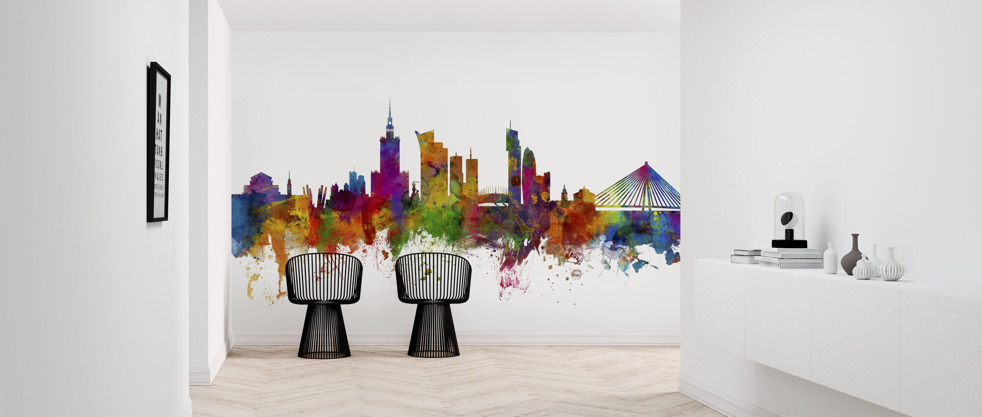 Warsaw Skyline - Wallpaper - Hallway