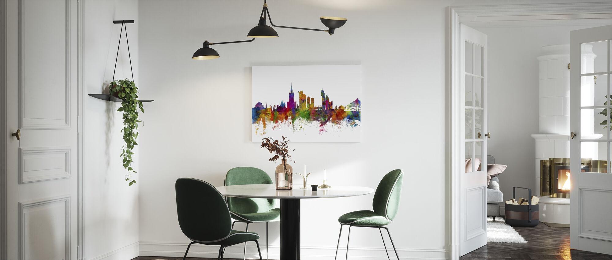 Warsaw Skyline - Canvas print - Kitchen