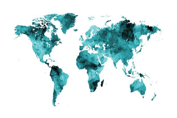 World Maps Trendy Wall Murals Photowall