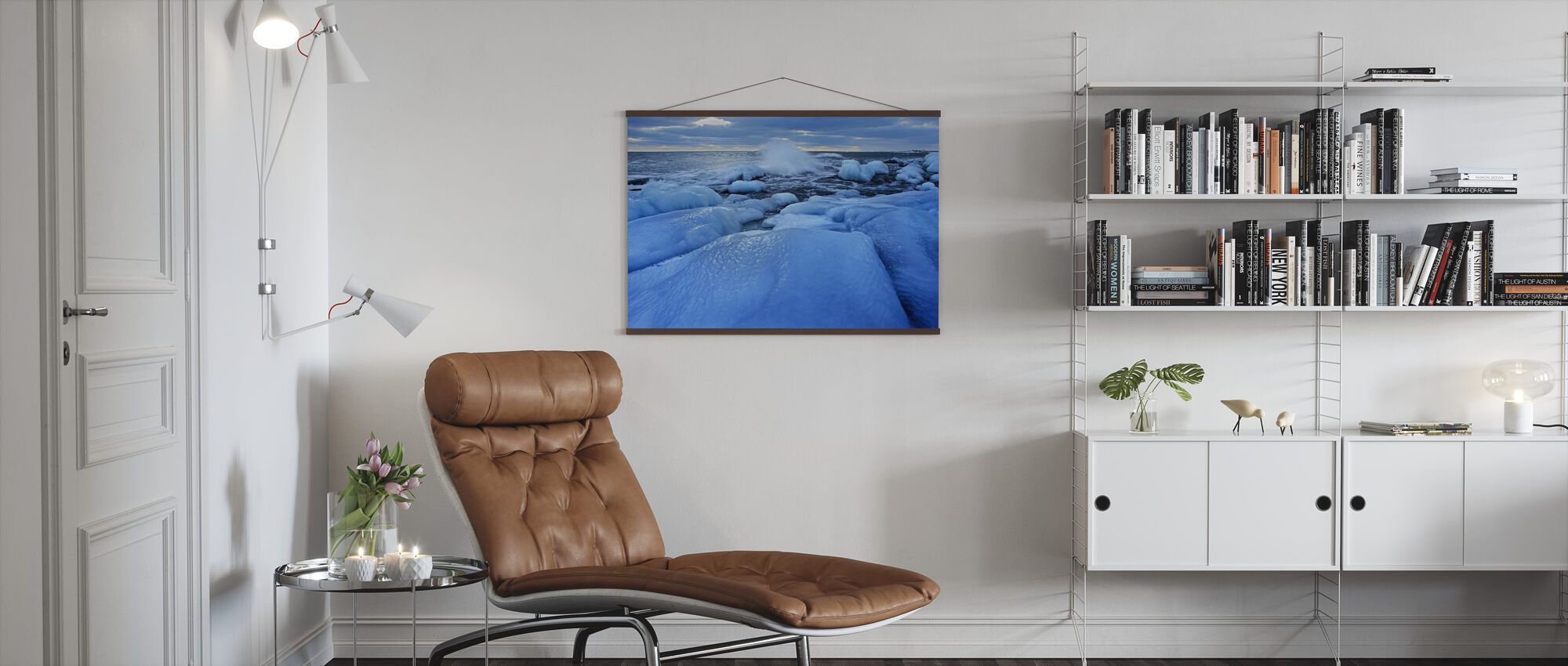 A Wintersday, Grisslehamn Sweden - Poster - Living Room