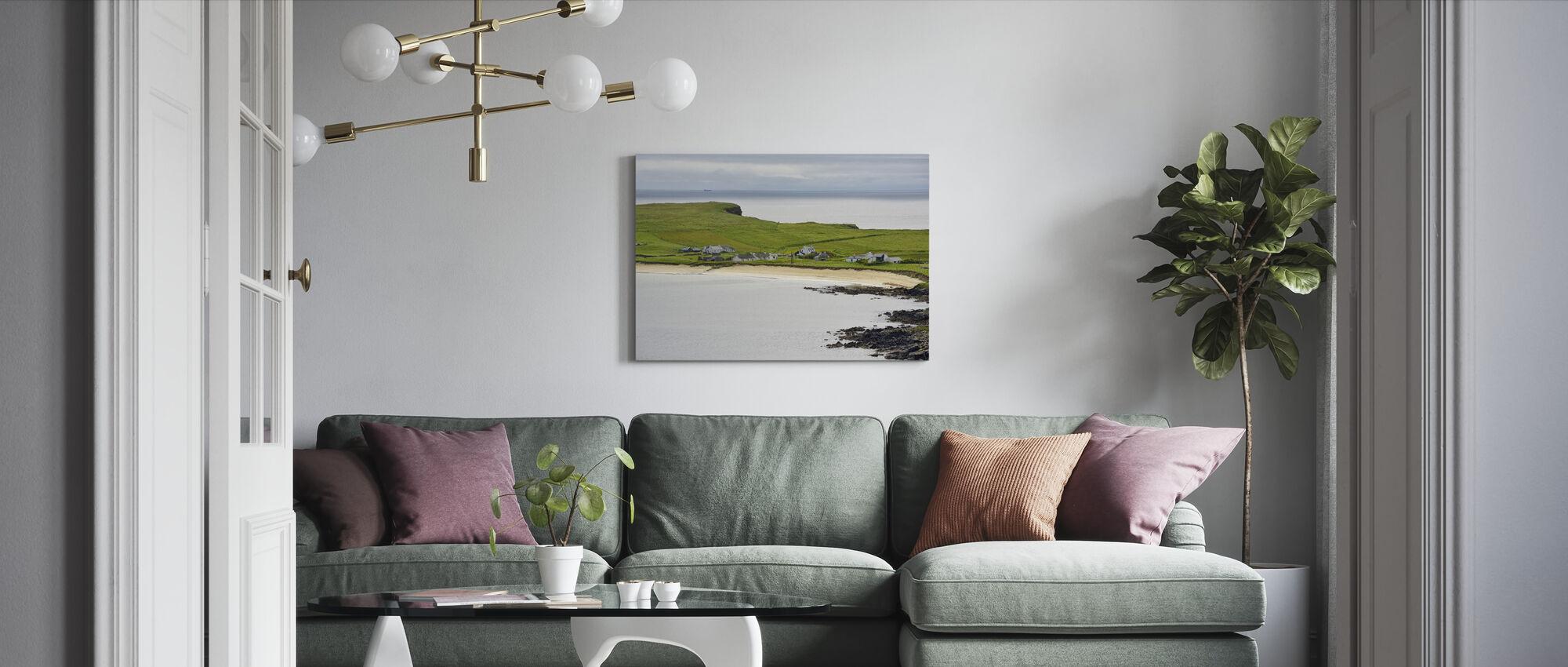 Levenwick Bay, Shetland - Canvas print - Living Room