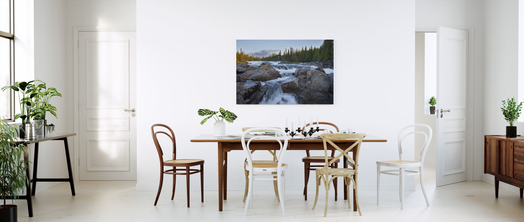 Tännforsen in Jämtland - Canvas print - Kitchen