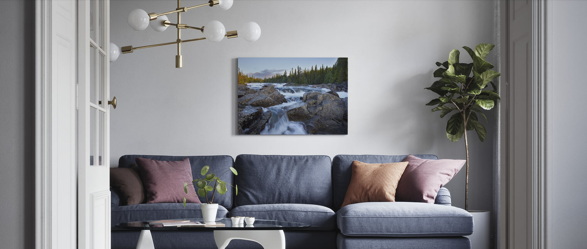 Tännforsen in Jämtland - Canvas print - Living Room