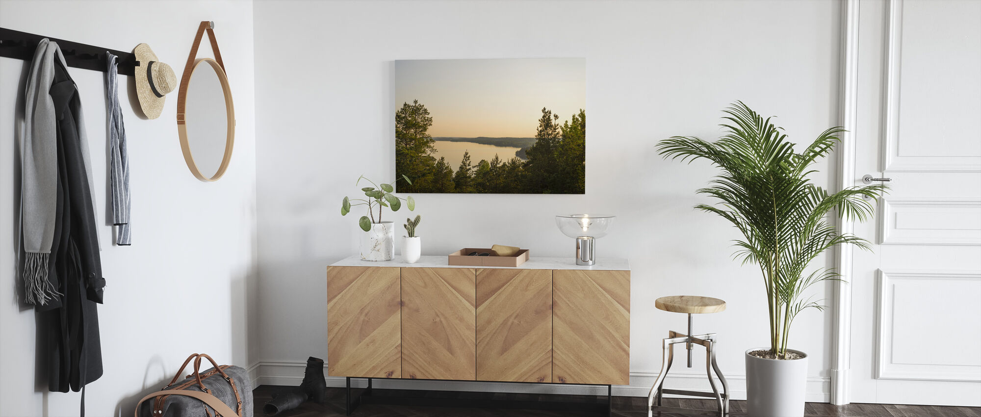 View over Birkaland - Canvas print - Hallway