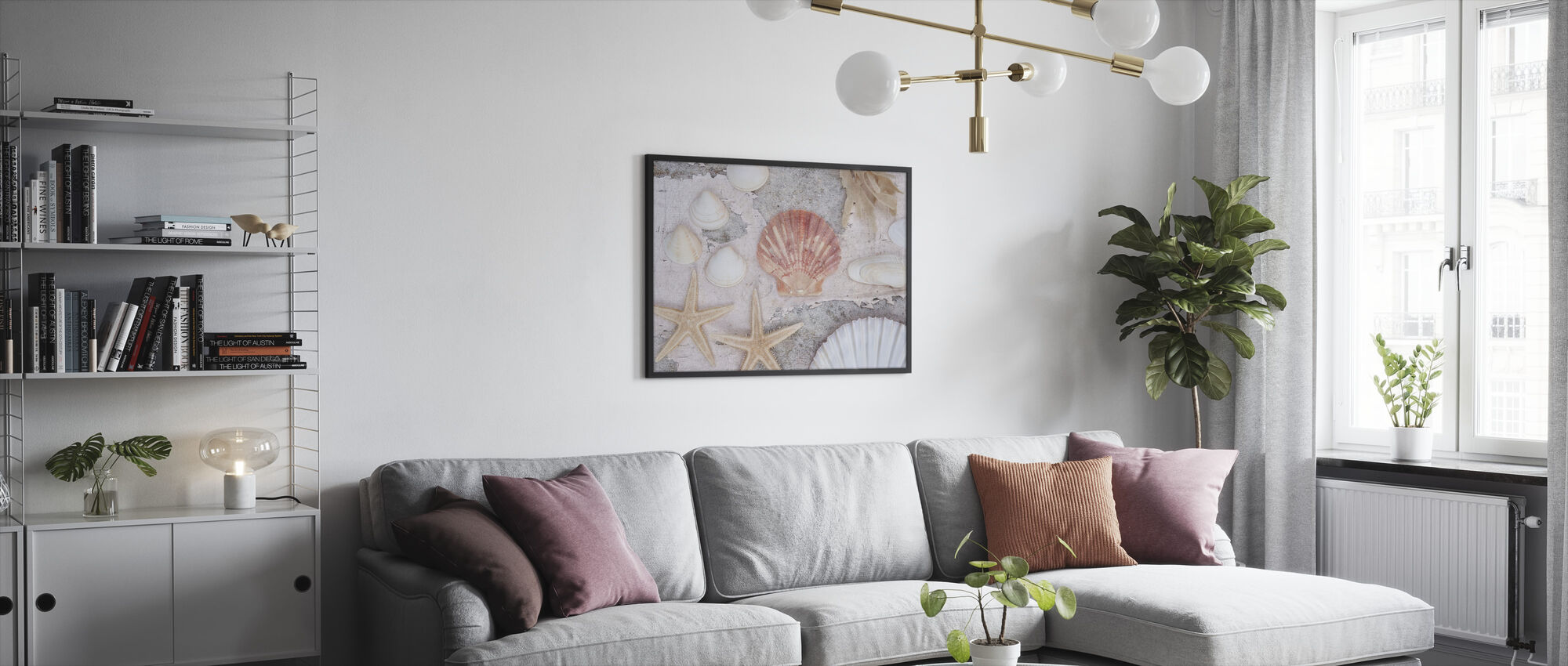 Beach Treasures - Framed print - Living Room