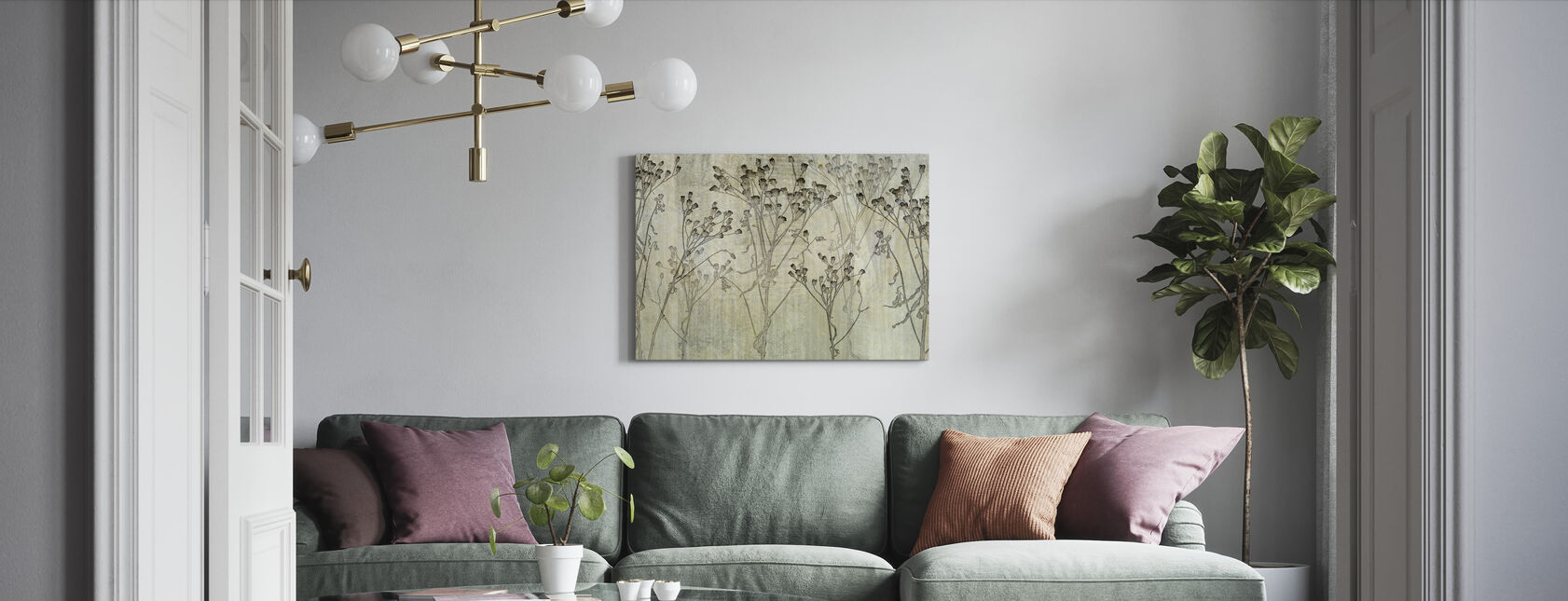 Concrete Weed - Canvas print - Living Room