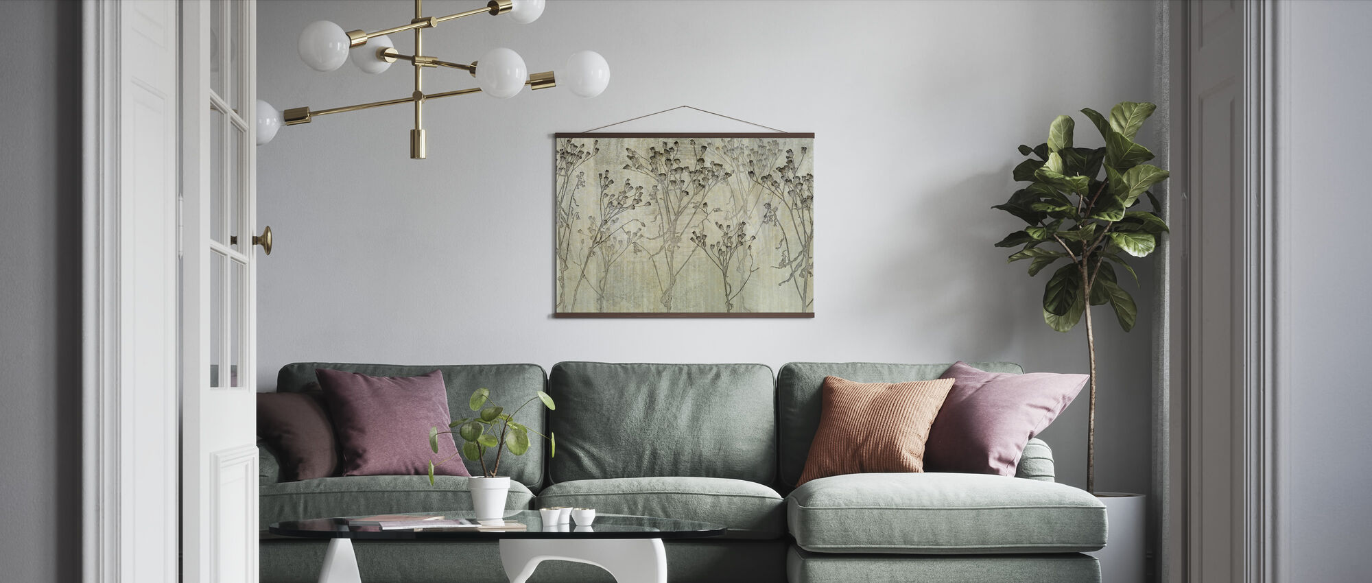Concrete Weed - Poster - Living Room
