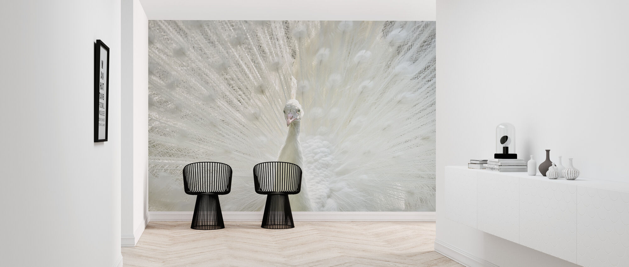 White Peacock - Wallpaper - Hallway