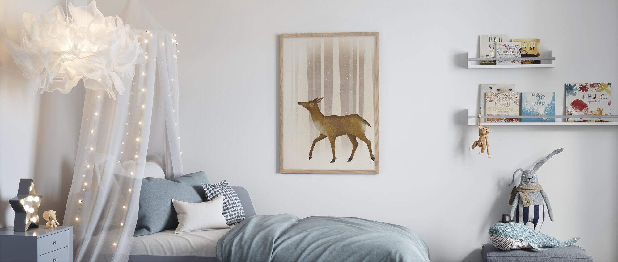 Snowy Doe - Framed print - Kids Room