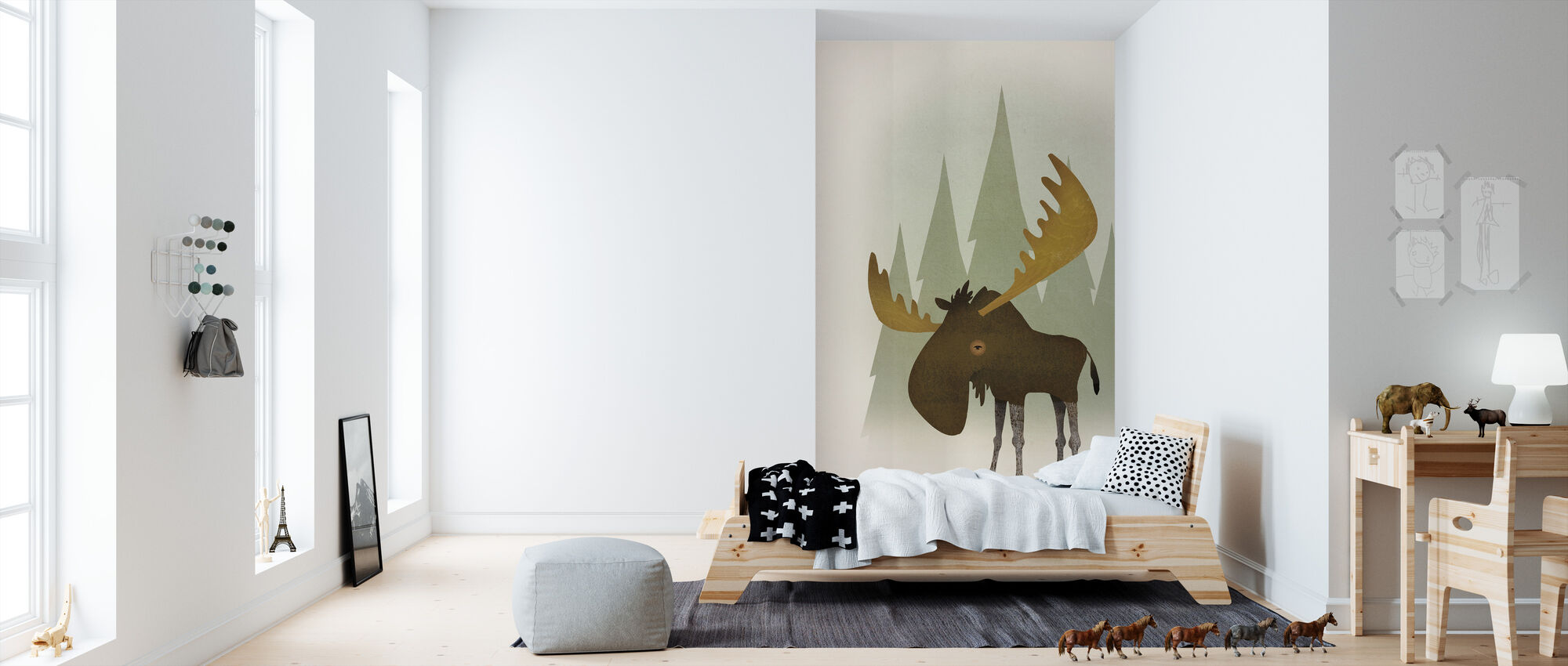 Forest Moose - Wallpaper - Kids Room