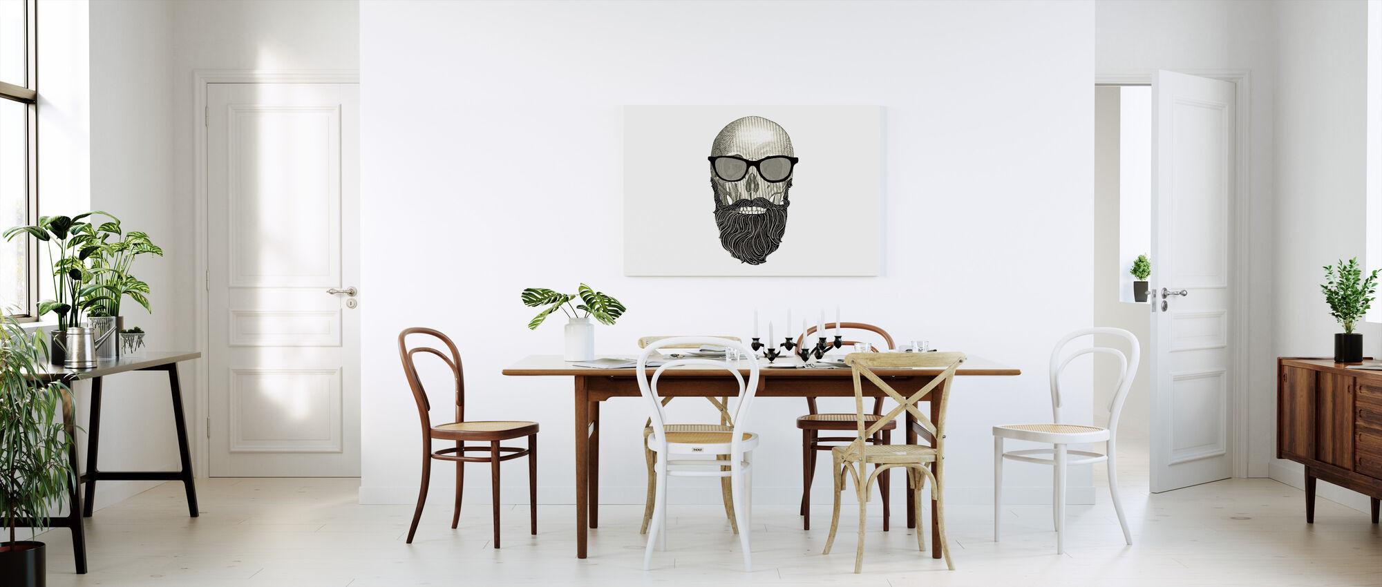 Hipster Skull I - Canvas print - Kitchen
