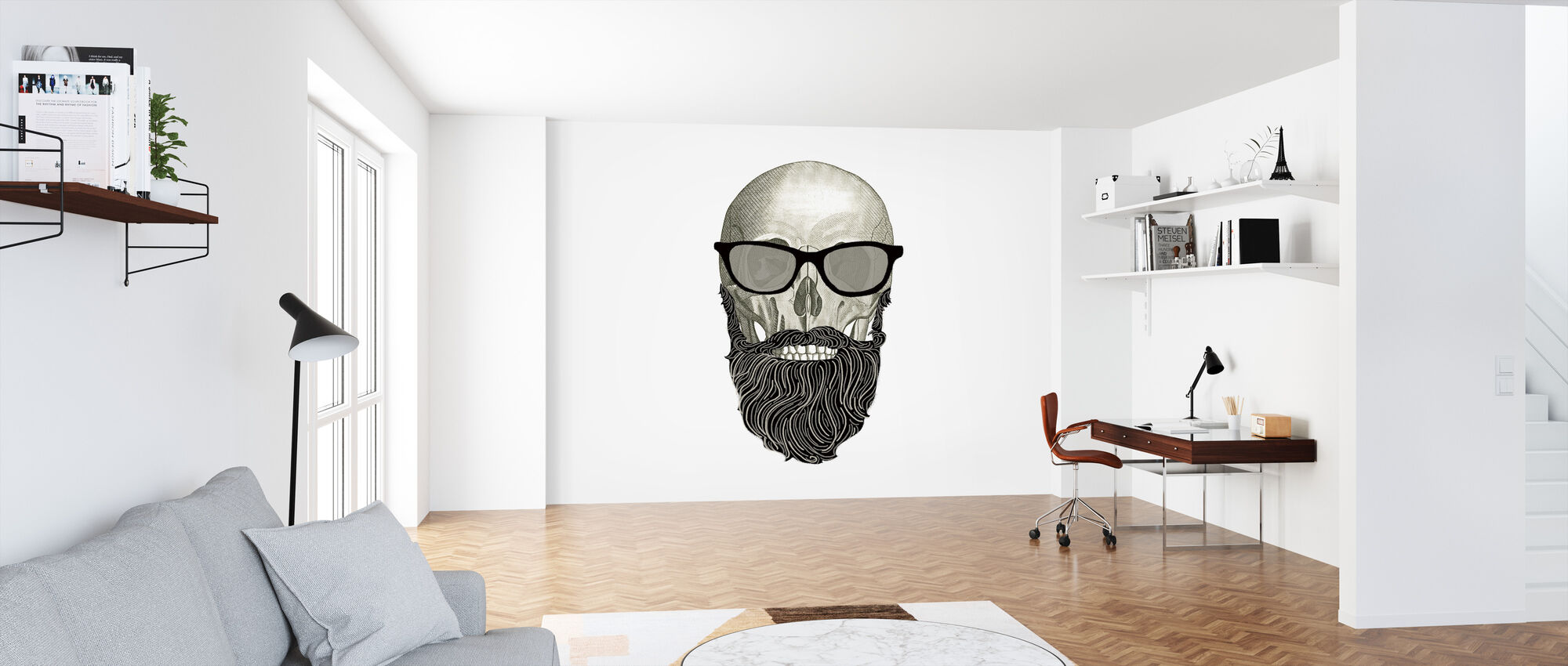 Hipster Skull I - Wallpaper - Office