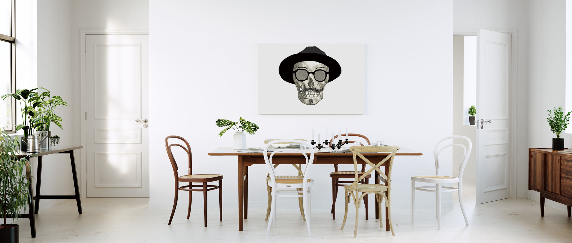 Hipster Skull III - Canvas print - Kitchen