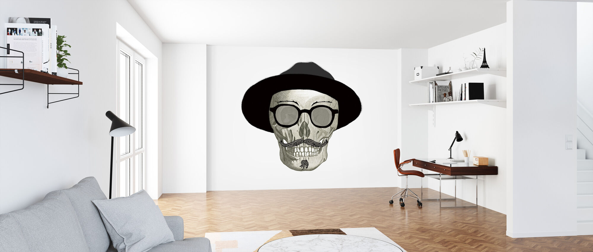 Hipster Skull III - Wallpaper - Office