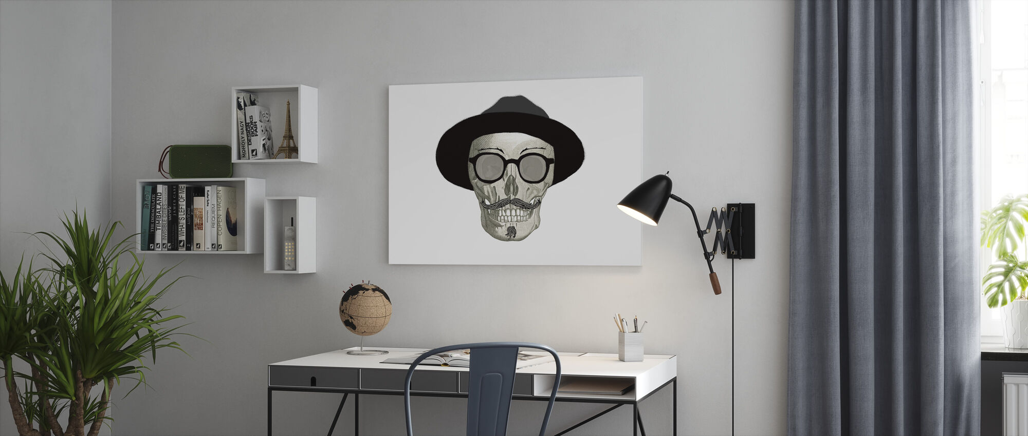 Hipster Skull III - Canvas print - Office