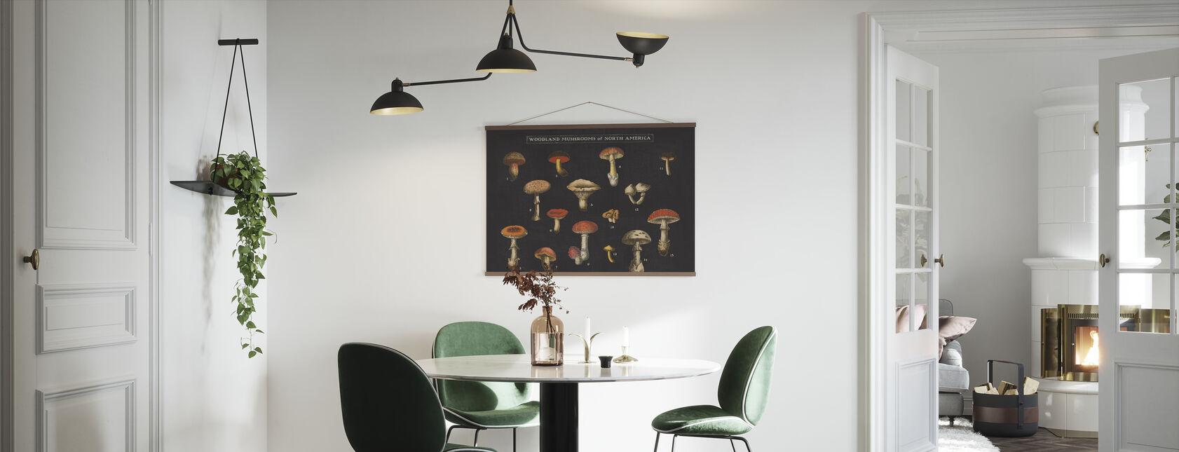 Mushroom Chart I - Poster - Kitchen