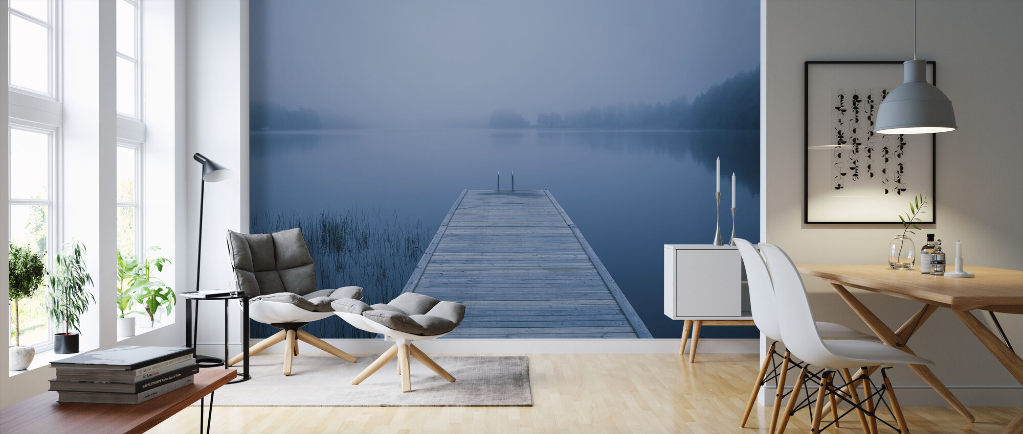 Alone at the Pier - Wallpaper - Living Room