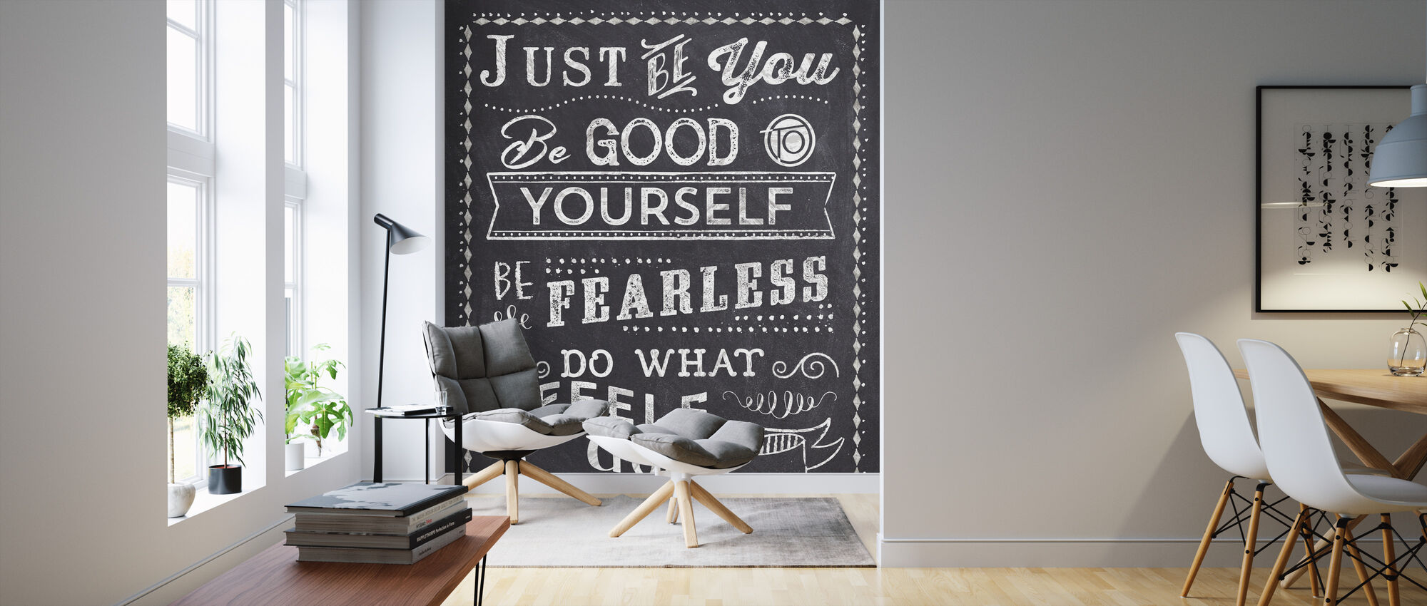 Just Be You II - Wallpaper - Living Room