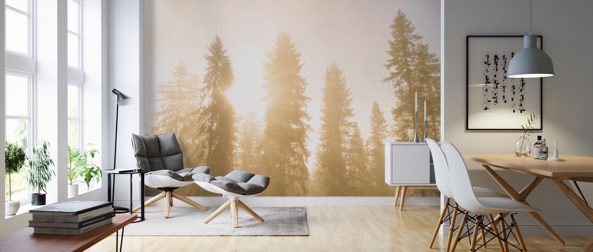 Golden Ray - Wallpaper - Living Room