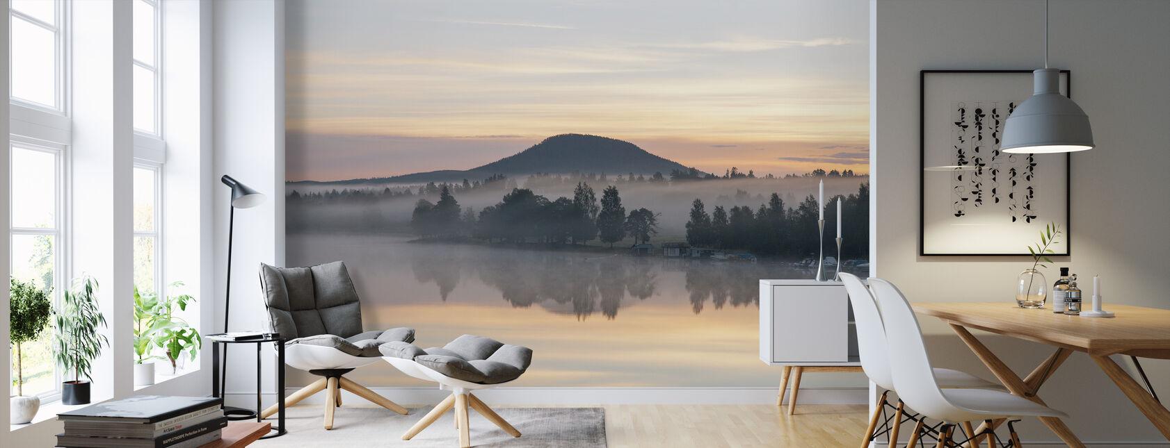 Lake Ljusnan voor zonsopgang - Behang - Woonkamer