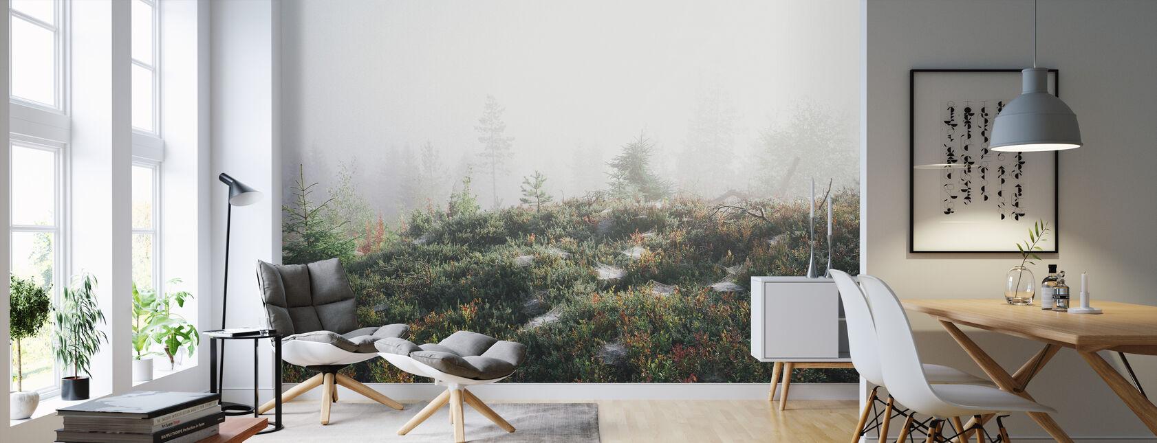 Poranna mgiełka na górze - Tapeta - Pokój dzienny