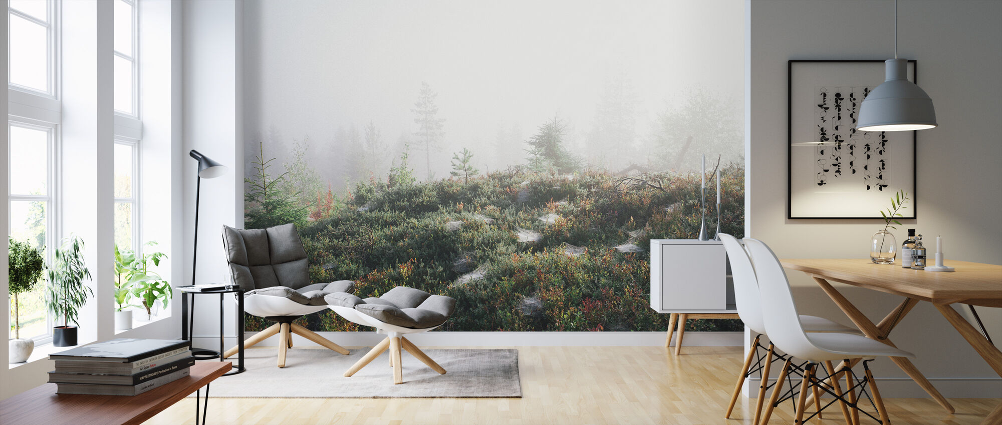 Morning Haze at the Mountain - Wallpaper - Living Room
