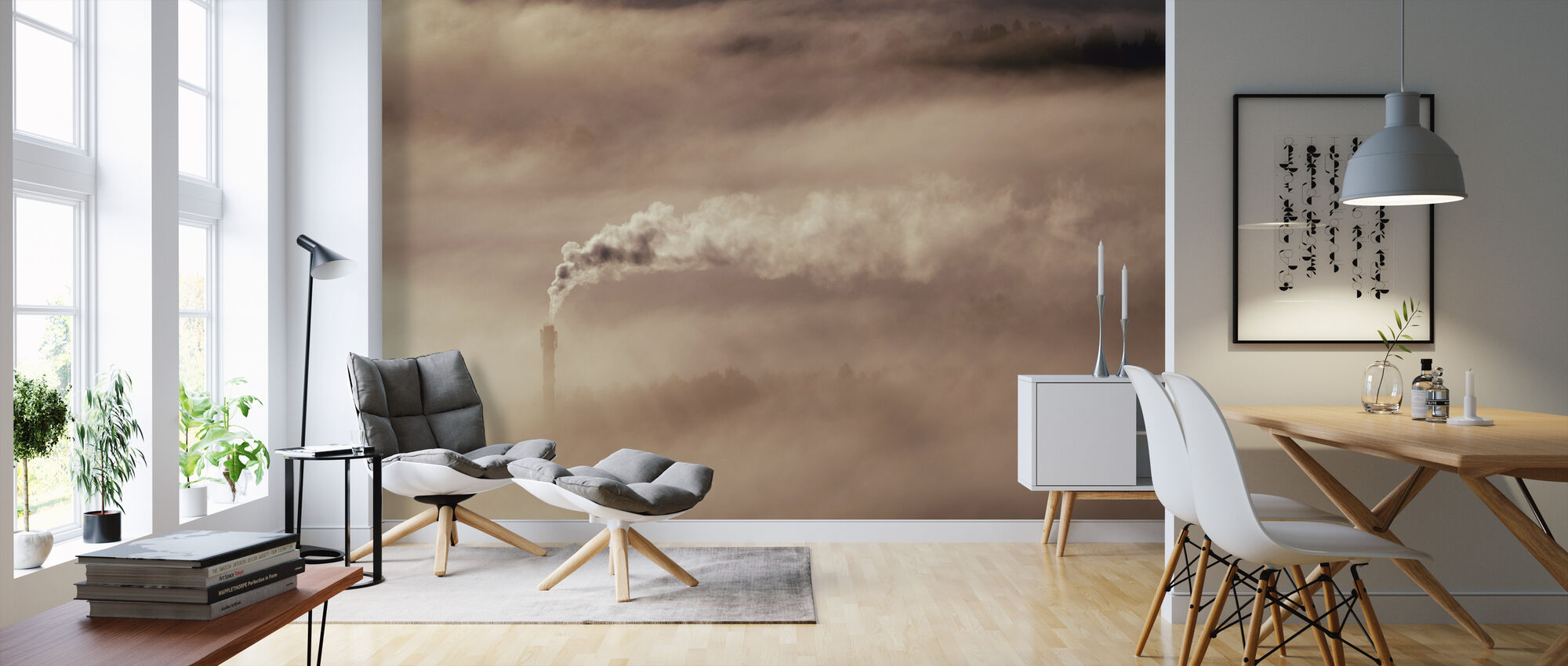 Smoke and Mist - Wallpaper - Living Room
