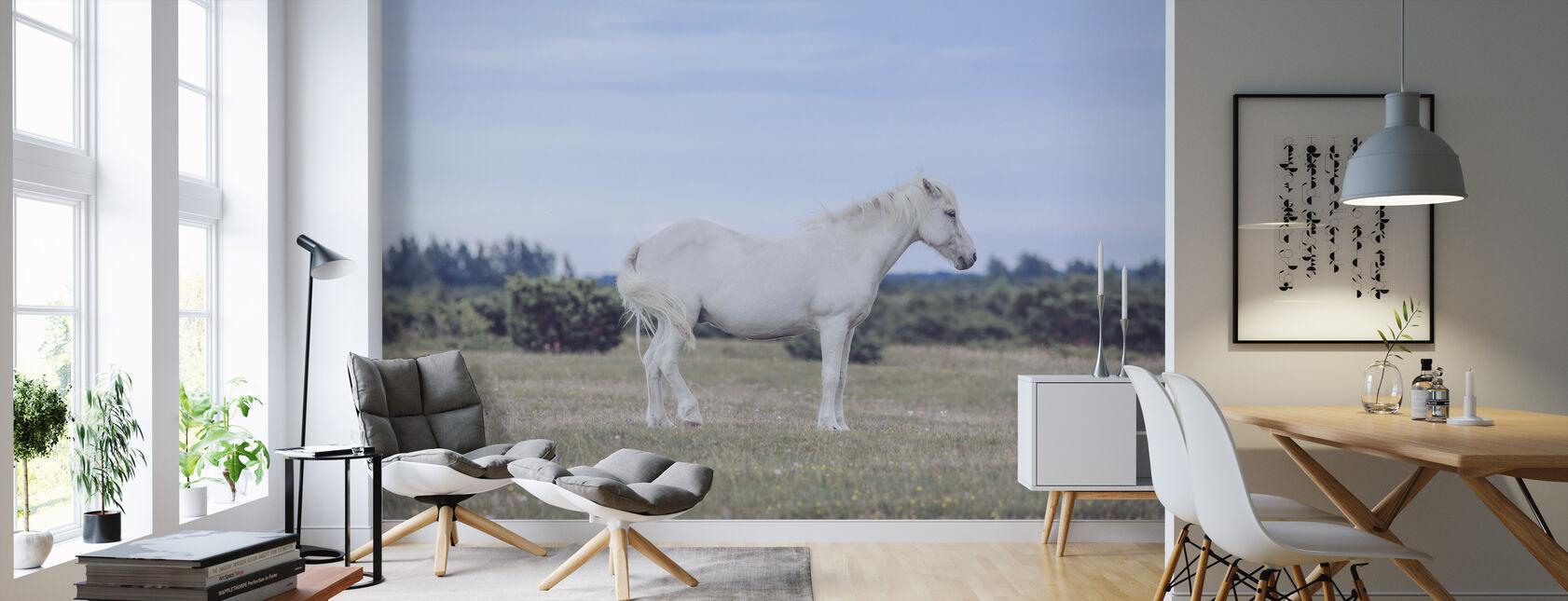 White Pony - Wallpaper - Living Room