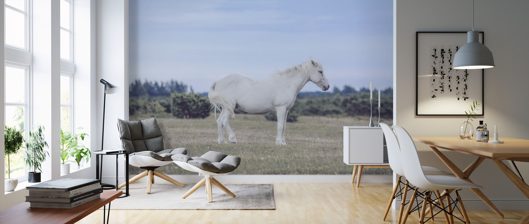 White Pony - Wallpaper - Living Room