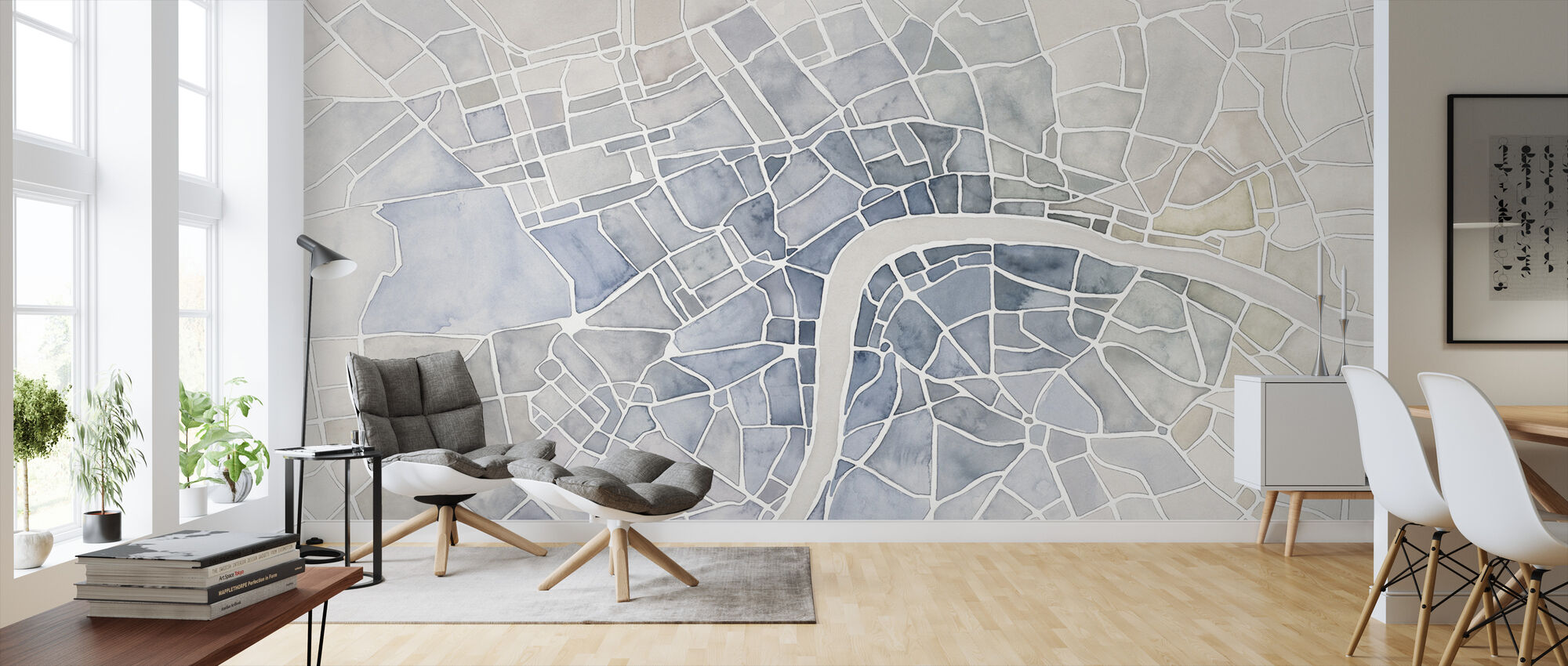 Watercolor Wanderlust London - Wallpaper - Living Room