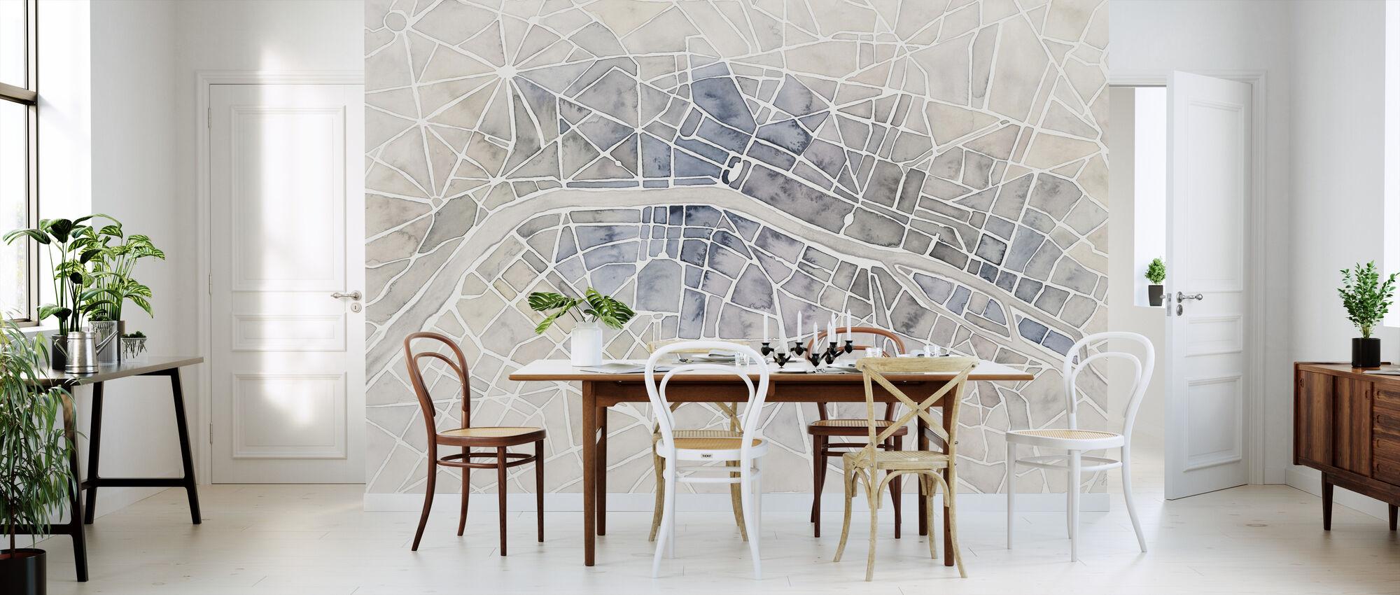 Watercolor Wanderlust Paris - Wallpaper - Kitchen