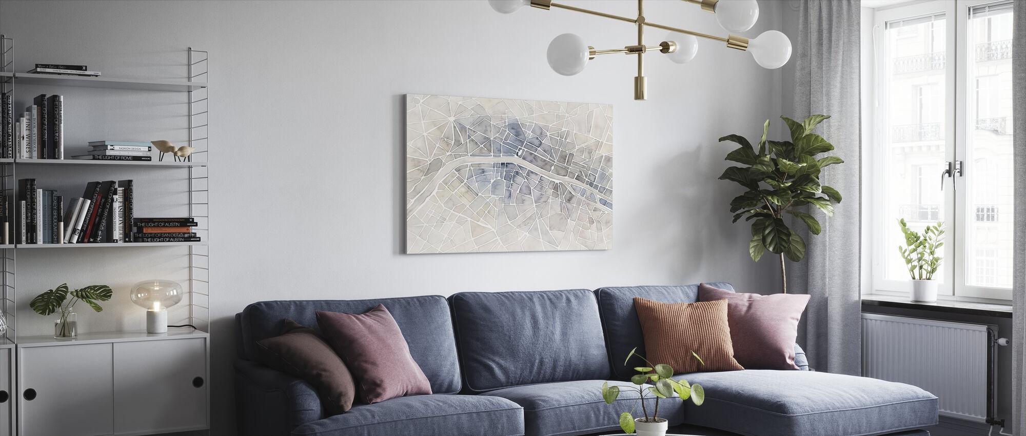 Watercolor Wanderlust Paris - Canvas print - Living Room