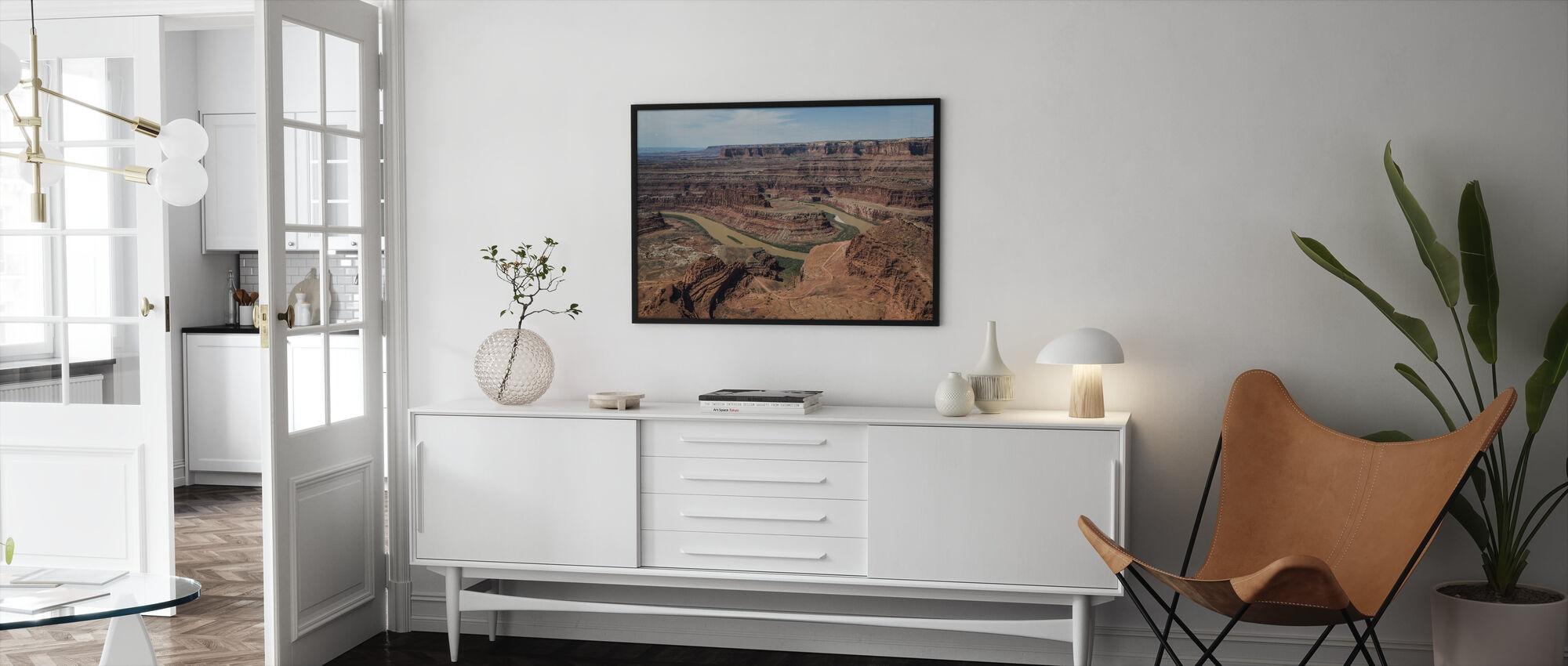 Dead Horsepoint Perspective of Gooseneck Color - Framed print - Living Room