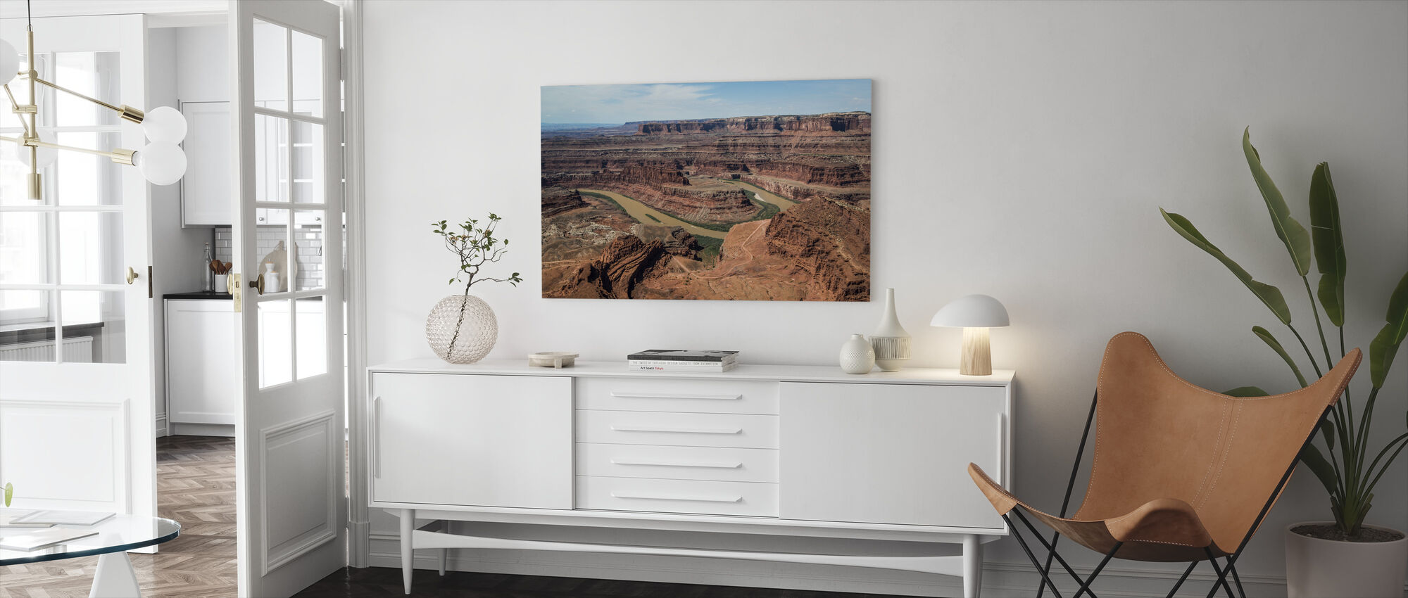 Dead Horsepoint Perspective of Gooseneck Color - Canvas print - Living Room