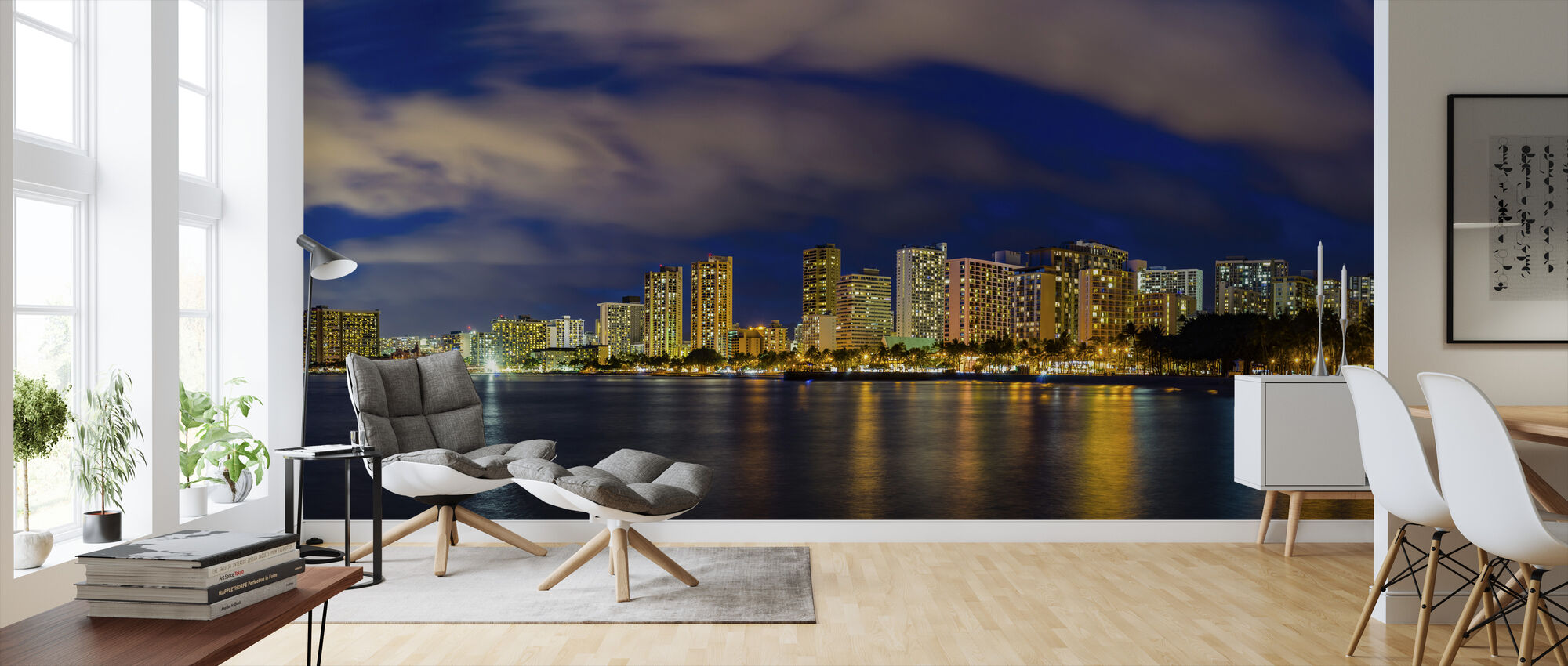 Honolulu Lights - Wallpaper - Living Room