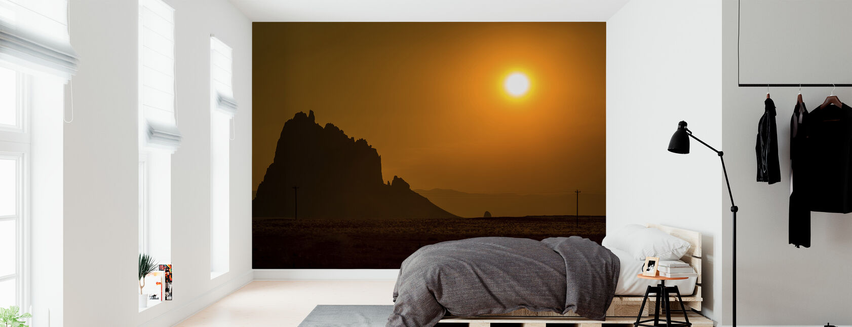 Shiprock at Sunset - Wallpaper - Bedroom