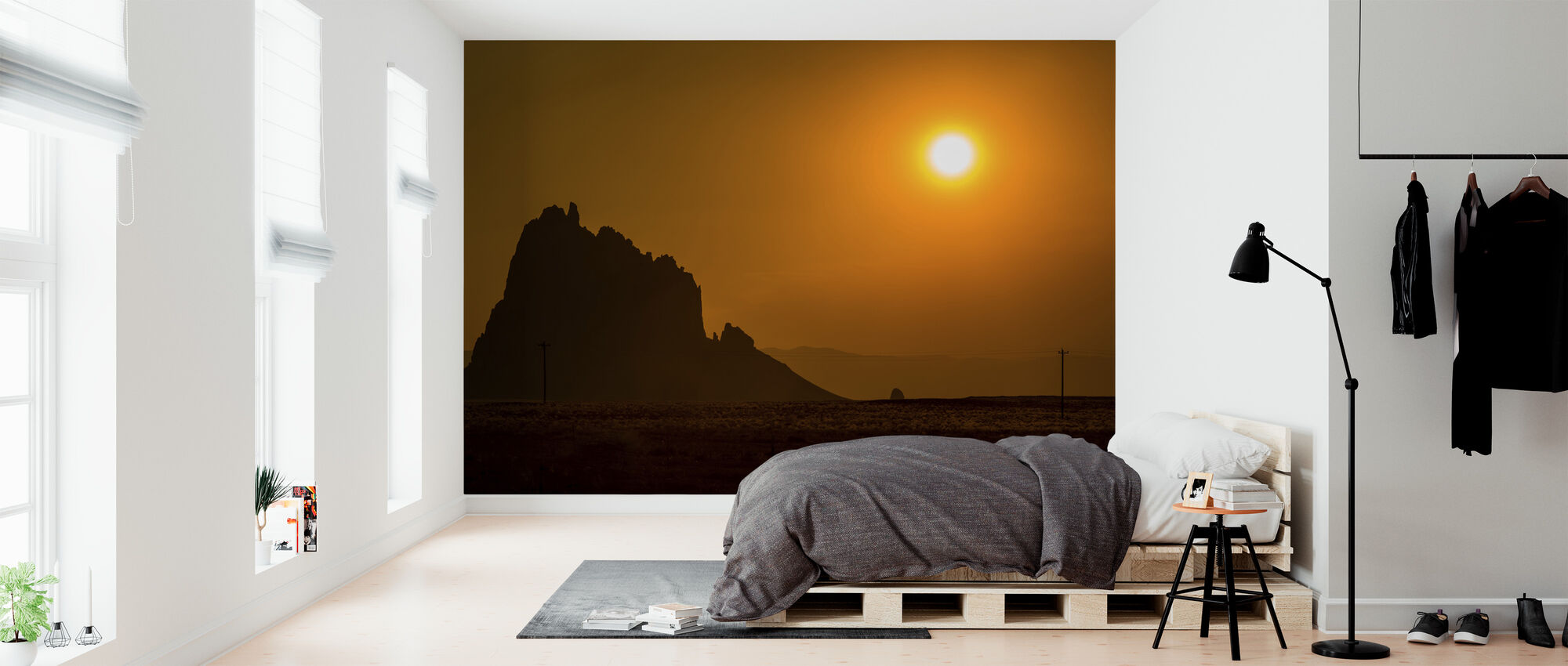Shiprock at Sunset - Wallpaper - Bedroom
