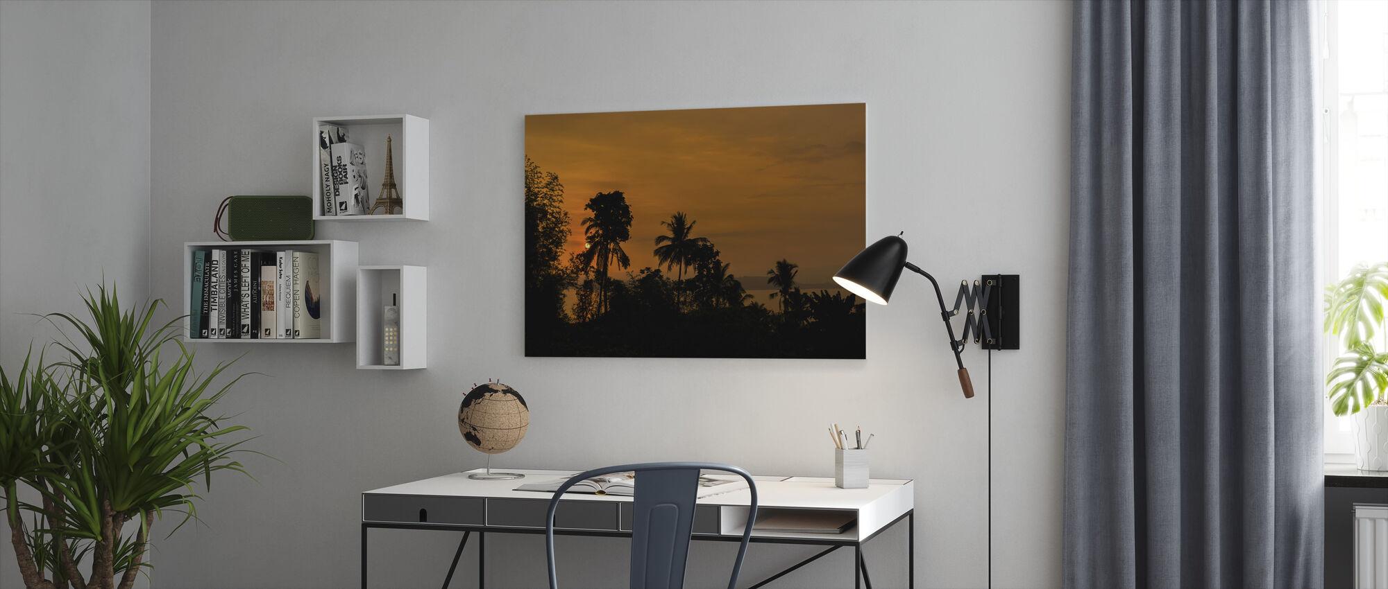 Silhouette Sundown - Canvastaulu - Toimisto