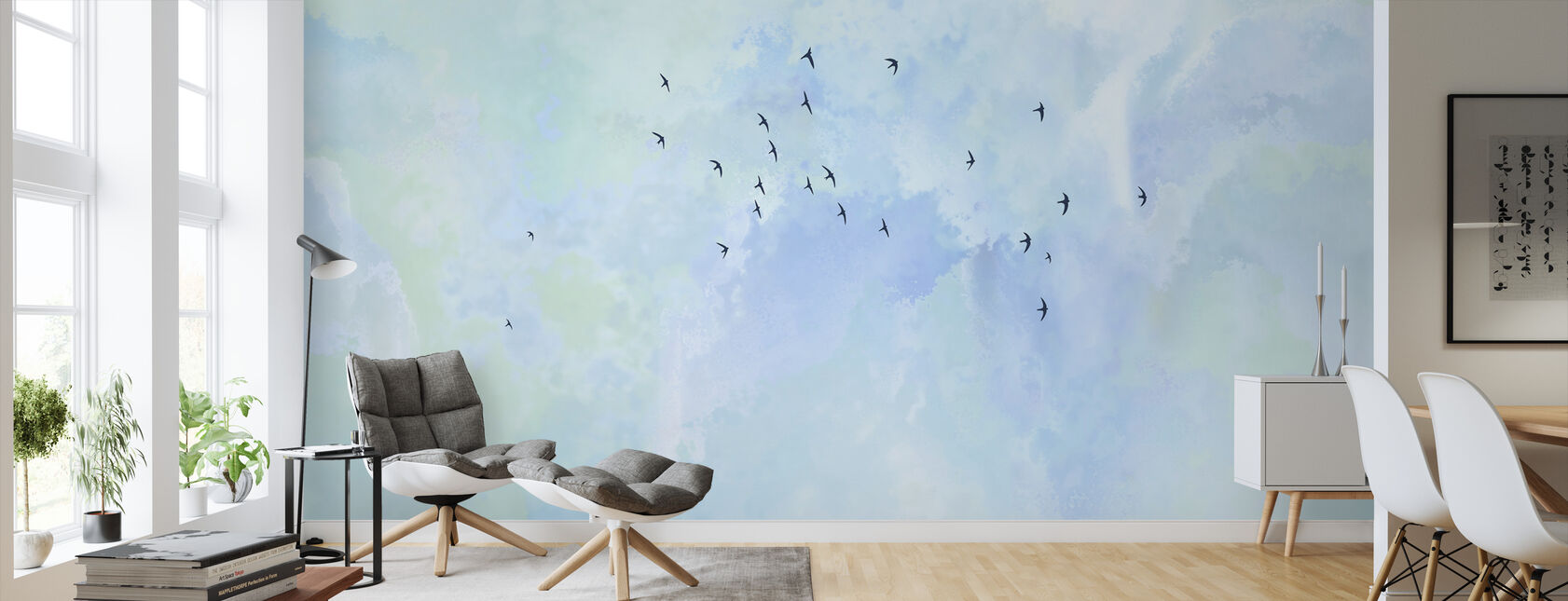 Flying High Birds - Wallpaper - Living Room