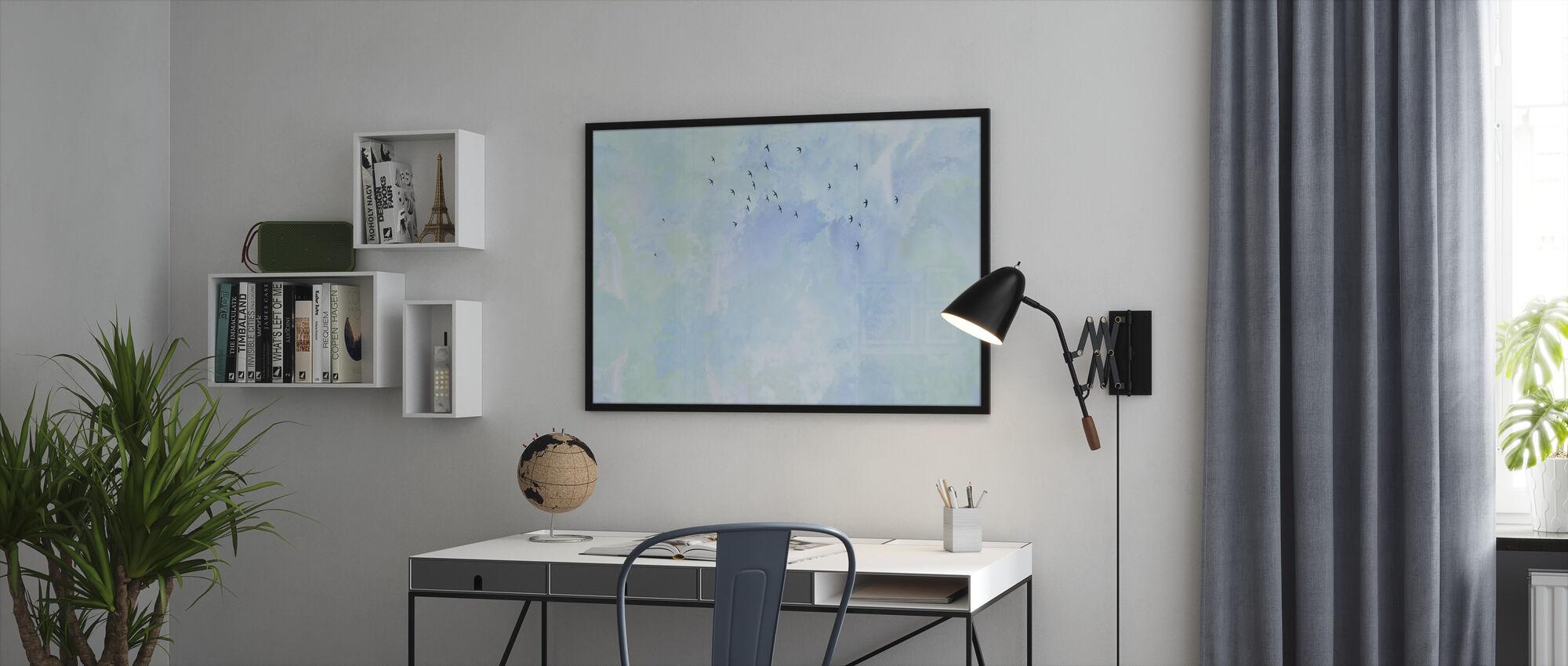Flying High Birds - Framed print - Office