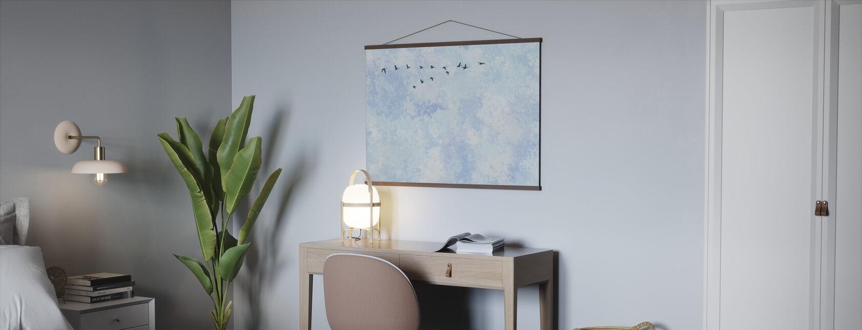 Vliegende Hoge Vogels - Poster - Kantoor