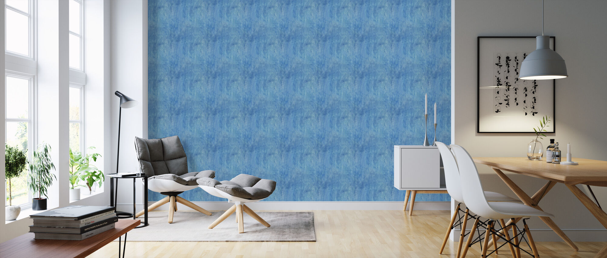 Reunited Blue - Wallpaper - Living Room